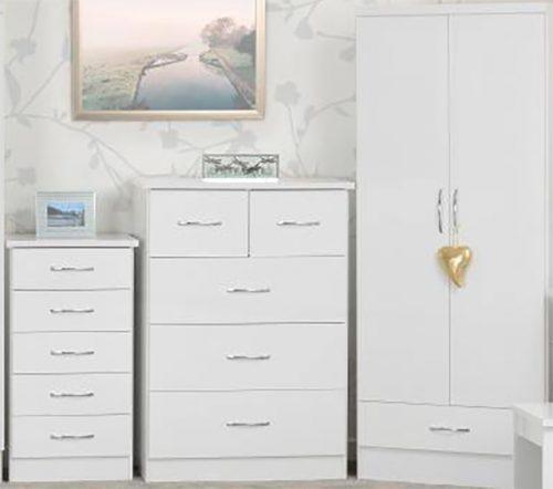 Nevada White Bedroom Set